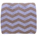 CHEVRON3 WHITE MARBLE & SAND Back Support Cushion View1