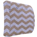 CHEVRON3 WHITE MARBLE & SAND Back Support Cushion View2