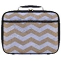 CHEVRON3 WHITE MARBLE & SAND Full Print Lunch Bag View1