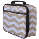 CHEVRON3 WHITE MARBLE & SAND Full Print Lunch Bag View4