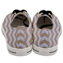 CHEVRON3 WHITE MARBLE & SAND Men s Low Top Canvas Sneakers View4