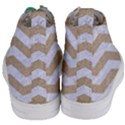 CHEVRON3 WHITE MARBLE & SAND Women s Mid-Top Canvas Sneakers View4