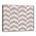 CHEVRON2 WHITE MARBLE & SAND Canvas 20  x 16  View1