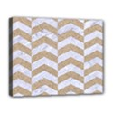 CHEVRON2 WHITE MARBLE & SAND Deluxe Canvas 20  x 16   View1