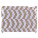 CHEVRON2 WHITE MARBLE & SAND Apple iPad 3/4 Hardshell Case (Compatible with Smart Cover) View1