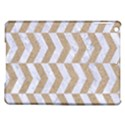 CHEVRON2 WHITE MARBLE & SAND iPad Air Hardshell Cases View1