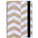 CHEVRON2 WHITE MARBLE & SAND iPad Air Flip View2