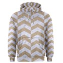 CHEVRON2 WHITE MARBLE & SAND Men s Pullover Hoodie View1