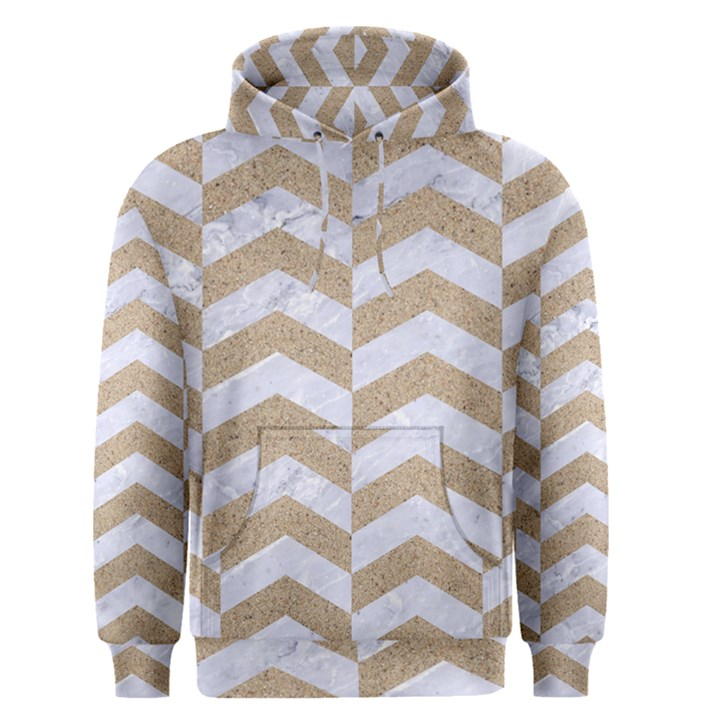 CHEVRON2 WHITE MARBLE & SAND Men s Pullover Hoodie