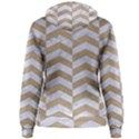 CHEVRON2 WHITE MARBLE & SAND Women s Pullover Hoodie View2