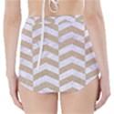 CHEVRON2 WHITE MARBLE & SAND High-Waisted Bikini Bottoms View2