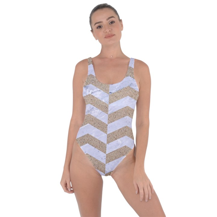 CHEVRON2 WHITE MARBLE & SAND Bring Sexy Back Swimsuit