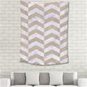 CHEVRON2 WHITE MARBLE & SAND Medium Tapestry View2