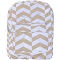 CHEVRON2 WHITE MARBLE & SAND Full Print Backpack View1