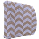 CHEVRON2 WHITE MARBLE & SAND Back Support Cushion View2