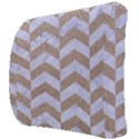 CHEVRON2 WHITE MARBLE & SAND Back Support Cushion View3