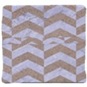 CHEVRON2 WHITE MARBLE & SAND Back Support Cushion View4