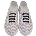 CHEVRON2 WHITE MARBLE & SAND Women s Classic Low Top Sneakers View1