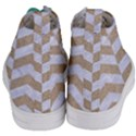 CHEVRON2 WHITE MARBLE & SAND Women s Mid-Top Canvas Sneakers View4
