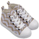 CHEVRON2 WHITE MARBLE & SAND Kid s Mid-Top Canvas Sneakers View3