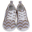 CHEVRON2 WHITE MARBLE & SAND Kids  Lightweight Sports Shoes View1