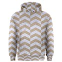 CHEVRON2 WHITE MARBLE & SAND Men s Overhead Hoodie View1
