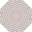 CHEVRON1 WHITE MARBLE & SAND Folding Umbrellas View1