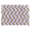 CHEVRON1 WHITE MARBLE & SAND Apple iPad 3/4 Hardshell Case (Compatible with Smart Cover) View1