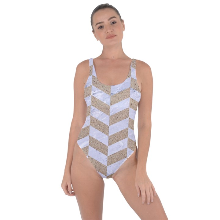 CHEVRON1 WHITE MARBLE & SAND Bring Sexy Back Swimsuit