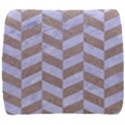 CHEVRON1 WHITE MARBLE & SAND Back Support Cushion View1