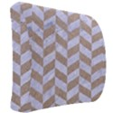 CHEVRON1 WHITE MARBLE & SAND Back Support Cushion View2