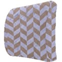 CHEVRON1 WHITE MARBLE & SAND Back Support Cushion View3