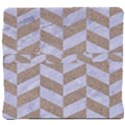 CHEVRON1 WHITE MARBLE & SAND Back Support Cushion View4