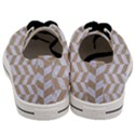 CHEVRON1 WHITE MARBLE & SAND Men s Low Top Canvas Sneakers View4