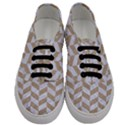 CHEVRON1 WHITE MARBLE & SAND Men s Classic Low Top Sneakers View1
