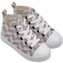 CHEVRON1 WHITE MARBLE & SAND Kid s Mid-Top Canvas Sneakers View3