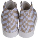 CHEVRON1 WHITE MARBLE & SAND Kid s Hi-Top Skate Sneakers View4