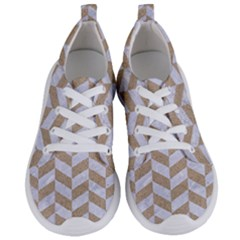 Chevron1 White Marble & Sand Women s Lightweight Sports Shoes