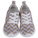 CHEVRON1 WHITE MARBLE & SAND Kids  Lightweight Sports Shoes View1