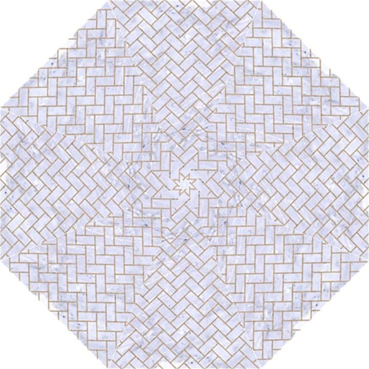 BRICK2 WHITE MARBLE & SAND (R) Folding Umbrellas