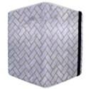 BRICK2 WHITE MARBLE & SAND (R) Samsung Galaxy Tab 8.9  P7300 Flip Case View4