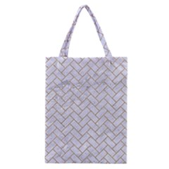 Brick2 White Marble & Sand (r) Classic Tote Bag