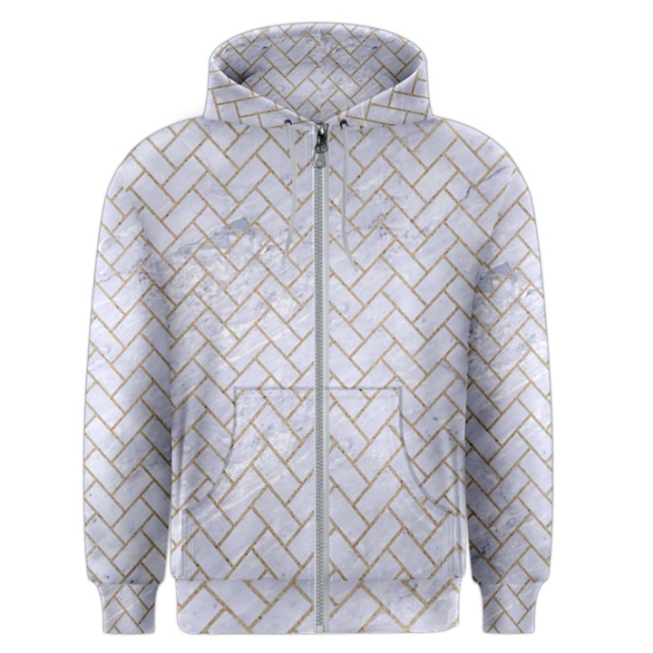 BRICK2 WHITE MARBLE & SAND (R) Men s Zipper Hoodie