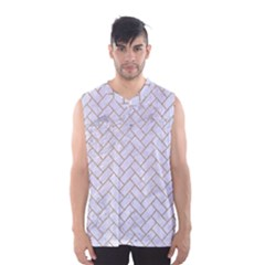 Brick2 White Marble & Sand (r) Men s Basketball Tank Top