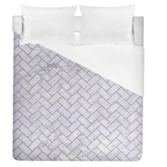 Brick2 White Marble & Sand (r) Duvet Cover (queen Size)
