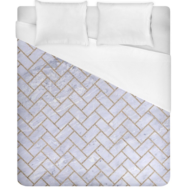 BRICK2 WHITE MARBLE & SAND (R) Duvet Cover (California King Size)