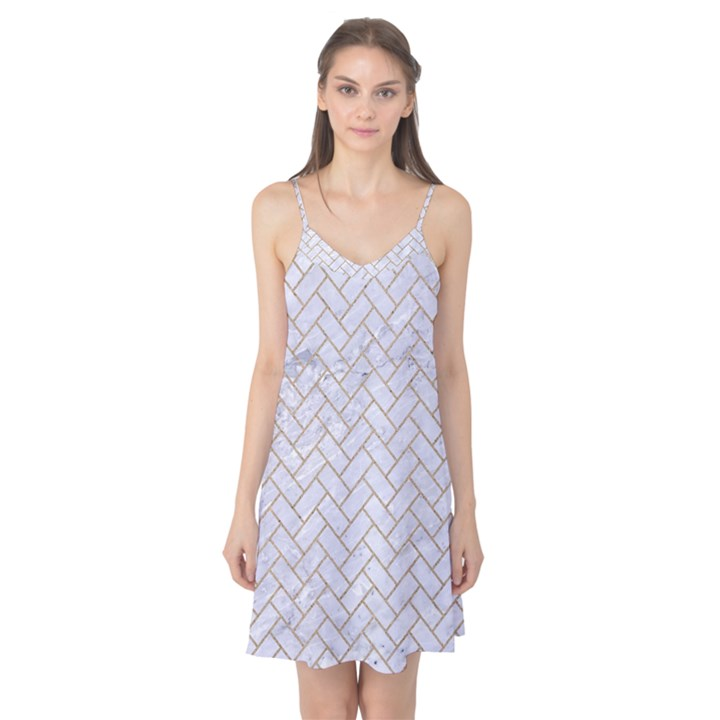 BRICK2 WHITE MARBLE & SAND (R) Camis Nightgown