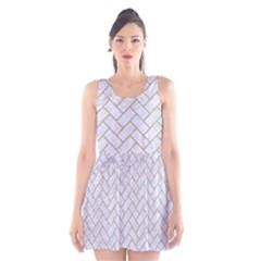 Brick2 White Marble & Sand (r) Scoop Neck Skater Dress