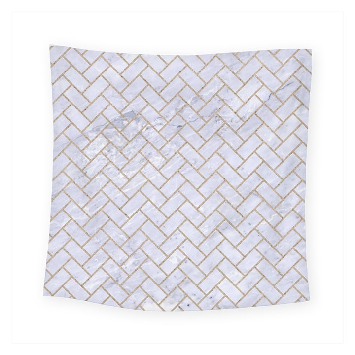 BRICK2 WHITE MARBLE & SAND (R) Square Tapestry (Small)