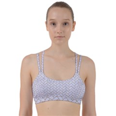 Brick2 White Marble & Sand (r) Line Them Up Sports Bra